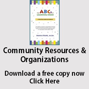 Community resources and organizations for learning disabilities